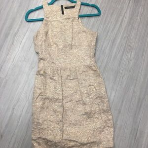 Gold Shimmer Mid Dress